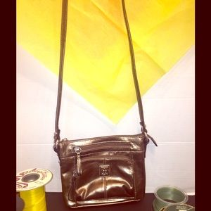 Giani Bernini's Metallic Copper Crossbody Bag